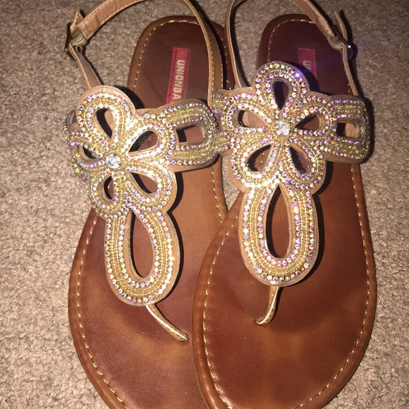 e3362edcf Iridescent jeweled sandals. M 5bfb3294c617779bb03b63be